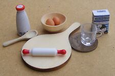 1:12 Bread CAKE BAKING Set DOLLS HOUSE miniatura da Cucina Accessorio Mu