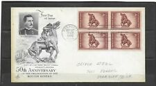 1948 US Artcraft FDC Scott #973 Rough Riders 50th Anniversary Addressed Blk4