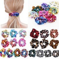8-20Pcs Shiny Metallic Hair Scrunchies Ponytail Holder Elastic Hair Ties Bands #