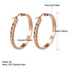 316L Stainless Steel Silver/Rose/Gold Women Hoop Earrings Fashion Party Jewelry