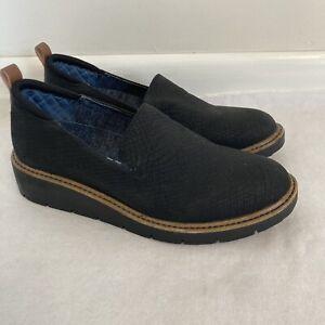 Dr Scholl's Womens Sz 6M be free Slip On Shoes black snakeskin Sidekick Gel