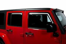 Tinted Window Visors Fits 2007-2017 Jeep Wrangler JK (Set of 4)