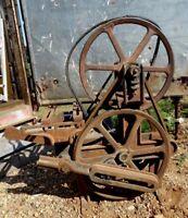 Steampunk Cast Iron Windmill Water Pump Jack Cherokee IA Primitive Farm Fresh