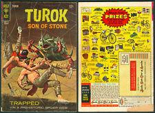 1967 U.S. GOLD KEY TUROK SON OF STONE The Web Of Danger No. 59 Comics