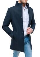 Cappotto soprabito uomo Diamond invernale blu slim fit casual elegante coreana