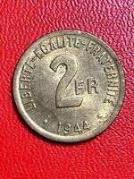 #5739 - 2 francs 1944 Philadelphie SUP - FACTURE
