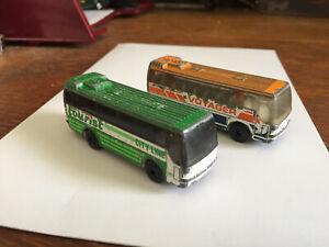 2 Matchbox Ikarus Coach diecast bus 1986