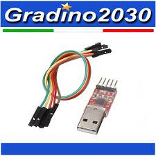 USB A TTL UART Modulo STC Adattatore Convertitore Seriale CP2102 5pin + Cavo