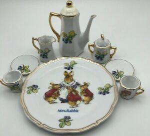 Mrs. Rabbit Decorative Tea Set The World Of Beatrix Potter Peter Rabbit 10pc Set