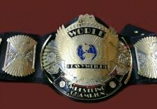 WWF WINGED EAGLE WRESTLING CHAMPION BELT 4MM  GOLD PLATED ADULT SIZE REPLICA