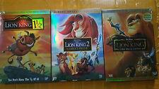 Lion King Trilogy DVD Bundle Box Set Platinum Simba's Prida 1 2 1/2  FREE SHIP!!