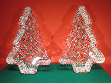 Waterford Crystal Christmas Tree Trays - Set of 2