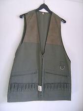 Veste de chasse vintage kaki sans manches taille 40 neuve