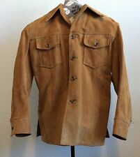 LL Bean Suede Size 44 Pigskin by Wolverine Satin Lined Vintage Jacket Coat