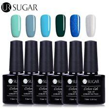 7.5ml 6 Stk UV Gel Nagellack Blaue Serie Soak off Gel Lack Maniküre Set UR SUGAR