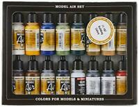 Vallejo Model Air Building Acrylic Paint Set for Air Brush - Assorted Colours