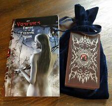 The Vampires Tarot of the Eternal Night Book & Deck Set *Blue Velvet Pouch*