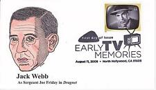 P M WAGNER HD/HP PMW CACHET FDC FIRST DAY COVER 2009 TV DRAGNET WEBB FRIDAY-AL