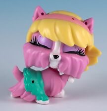 Littlest Pet Shop Yorkie Dog Pink With Yellow Hair