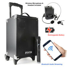 """ST050 Powered Portable PA Speaker System 8"""" Bluetooth with Microphone & Headset"""