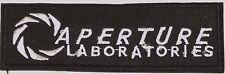 "PORTAL Game- Aperture Laboratories Logo 4.5"" BLACK Patch-FREE S&H (PORTPA-01)"