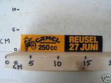 STICKER,DECAL REUSEL 250 CC KAMPIOENSCROSS CAMEL 27 JUNI MX CROSS