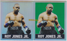 (2) 2018 LEAF ORIGINALS METAL #49: ROY JONES JR #2/5 SILVER+GREEN REFRACTOR LOT