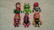 Teen Titans series 2 blind bag mini figure lot Robin,Cyborg,Raven.Mammot h,Star