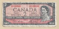 1954 $2 Bank of Canada Note Beattie Raminsky A/G 2672600 - F/VF