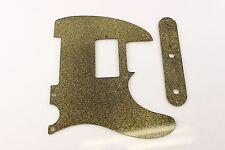 Gold Glitter Humbucking pickguard +control plate set Fits Fender Tele Telecaster