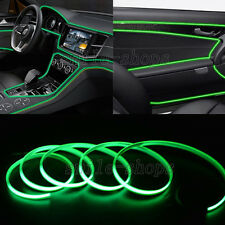 12V 3M Green EL Wire Car Interior Atmosphere Light Neon Strip Cold Light Tape