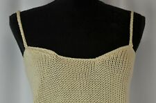 Cullinane Women's Tank Top Size Small Cotton Knitted Cami Casual Summer Ivory