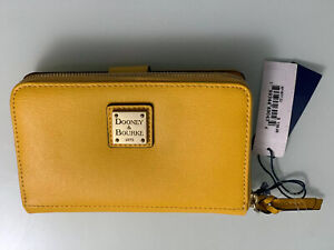 Dooney & Bourke Large Saffiano Leather Zip Around Wallet Dandelion Yellow