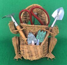 """""""Wicker Frog (6)Pc Garden Tool Set"""""""