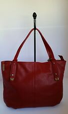 "NWT NICOLI Italian Leather ""RossoNk"" Designer Handbag"