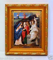 Ikone Saints myrrhbearers икона Святые жены мироносицы освящена 14,5x12,5x1,7 cm