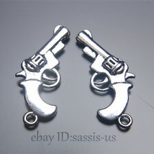 30pcs 28mm Charms gun pendant Diy Jewelry Bracelet Necklace Tibet Silver A7026