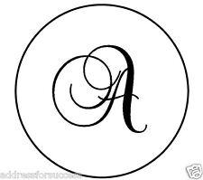 "Personalized Monogram 1"" Round Envelope Seals Wedding Party Favors"