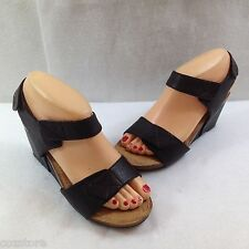 Me Too Krista Wedge Cork Ankle Strap Sandals Womens Size 6.5 M