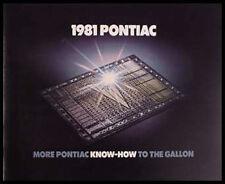1981 Pontiac BIG Prestige Brochure, Firebird, Trans AM! Original GM HUGE