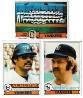 1979 Topps New York Yankees Team Set - (28) Cards  Reggie Jackson Thurman Munson