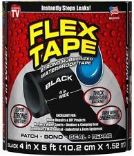 """Strong WaterProof Tape Flex Tape 4"""" x 5' Rubberized Seal Stop Leaks Patch Bond"""