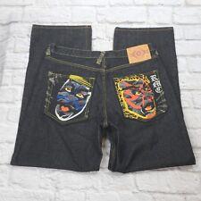AKASARU PREMIUM JEANS WITH TIGER Embellished Back Pockets BAGGY MENS SIZE 38X34