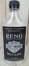 Harley Davidson Of Reno Nevada Whiskey Shaped Spring Water Bottle Collectable