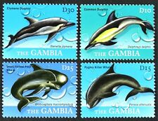 B139 GAMBIA 2009 Gorgeous set, Whales & Dolphins Mint NH