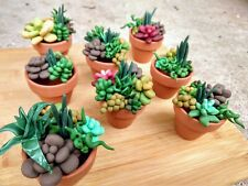 Aquarium Succulent Pot Decor for Fun Fish Tanks, Fry Hides Caves Decoration