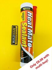 EVERBUILD HEAT MATE SILICONE SEALANT HIGH TEMPERATURE HEAT RESISTANT BLACK & RED