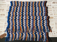 MISSONI Women Wrap Italian Made Signature Zigzag Multi Col Blended Scarf RRP£150