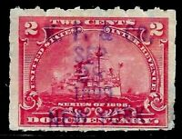 """KP & CO"" Proprietary Date Cancel SON 1 Cent Battleship US Stamps 68C12"