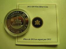 2012 Proof $20 50th Anniversary Coast Guard Canada COIN&COA ONLY .9999 silver